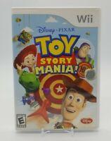 Toy Story Mania (Nintendo Wii 2009) Disc Manual & Box No 3D Glasses Disney Pixar