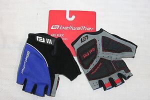 Bellwether Womens Gel Flex CYCLING GLOVES Gel Palm Fingerless Gloves Small Blue