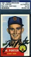 Jw Porter Signed Psa/dna 1953 1991 Topps Archives Autograph Authentic