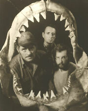Jaws Greatest Cast Photo of Jaws Movie Publicity Photo Through Shark Teeth GREAT