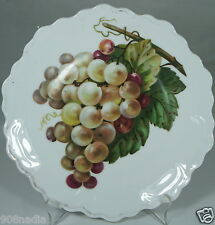 ANTIQUE PORCELAIN PLATE,GRAPES & LEAVES,EMBOSSED,SCALLOPED RIM,BAVARIA