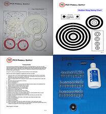 1984 Gottlieb//Mylstar Alien Star Pinball Machine Rubber Ring Kit