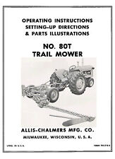 Allis Chalmers No. 80-T Rear Mount Mower Operator and Setting up Manual TM-210A