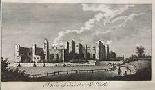 1776 Antique Print; View of Kenilworth Castle, Warwickshire by Goadby