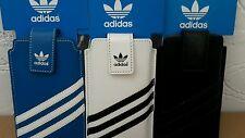 Genuine Adidas Leather Sleeve Case M Universal Samsung Sony Htc iPhone