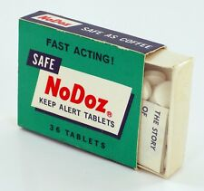 SEALED VINTAGE NEW OLD STOCK! NoDoz 36 Tablets from the 70's! FREE SHIPPING!