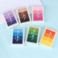 Colorful Non-Toxic Gradient Ink Pad Rubber Stamp Oil Based Finger Print DIY ArES