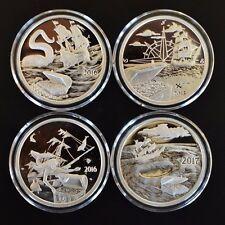 4 oz. *PROOF*.999 Silver Rounds Coins*Silverbug Island,Kraken,Mermaid,Whirlpool