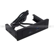 """5.25"""" Front Panel CDROM Bay 2 USB 3.0 Ports 5Gbps with 20 Pin Bracket Cable"""