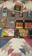 Lot of 10 NES games,8 NES,2 SNES