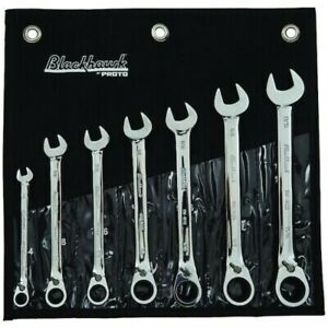 7pc Blackhawk By Proto Reverse Gear Ratcheting Wrench Set 12-Point SAE BW-1407S