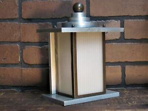 "Vintage 1940's 50's Mid Century Modern Machine Age Art Deco Porch Light 10"" T"
