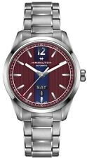Hamilton Men's H43515175 Broadway 42mm Blue/Red Dial Stainless Steel Watch