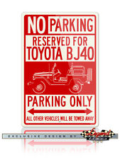 "Toyota BJ40 Land Cruiser ""Top Off"" 4x4 Reservado Parking Only 12x18 Aluminio"