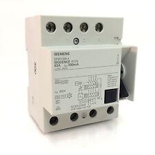Siquence Rccb Siemens 5SM3-646-4 63A 300mA 5SM3646-4
