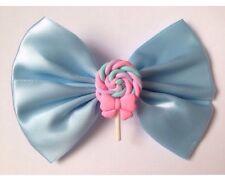 Pastel Azul Lollipop Cabello Moño Kawaii fairy Kei Sweet Lolita Lindo