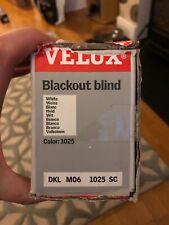 VELUX Manual Blackout Blind Kit Dkl M06 1025 SC 61cm X 94cm White Silver Frame
