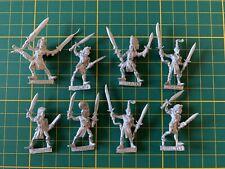 Warhammer Wood Elves Waldelfen 8 Wardancer Kampftänzer Metall Rare Used OOP