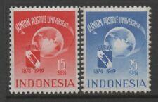 Indonesia 1949 Universal Postal Union set of 2 MUH