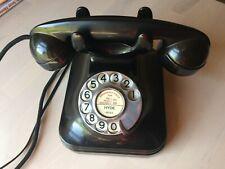 Original Antique Vintage Black Bakelite Telephone