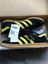 Mens adidas Hamburg RARE- Black & Yellow Trainers- UK Size 7 2014 Oslo Colourway
