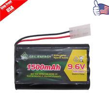 1x 9.6V 1500mAh 8*AA NI-MH Rechargeable Battery Pack Tamiya Plug For RC Car USA