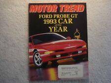 Motor Trend 1993 January Camaro Z28 Ford Probe GT Mercedes Saturn SW2 Bentley