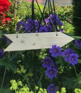 5 x Wooden Direction Arrow Signs  for Wedding or Party, Strung and ready to Hang