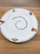 More details for alice in wonderlands cafe plate paul cardew large dinner vgc