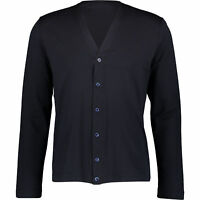 Designer CRUCIANI Men's Lightweight Cardigan, Black, sizes S L