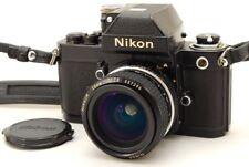 [Exc++++] Nikon F2 Photomic A Black F2A ,Ai NIKKOR 28mm f/2.8 Non Prong Lens #78