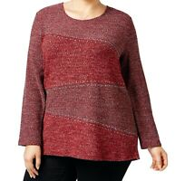 Style & Co. Women's Plus Size Embellished High-Low Sweater - Select a size