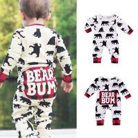 Newborn Infant Baby Boy Girl Kids Cotton Bear Romper Jumpsuit Bodysuit Outfit