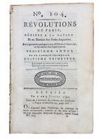 Évasion de Louis 16 1791 Montmédy Rare Journal Révolution Française Bourbon
