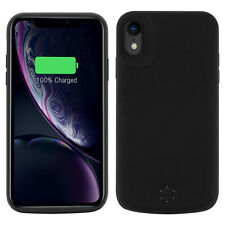 Carcasa batería 5000 mAh iPhone XR Testigo LED Negra