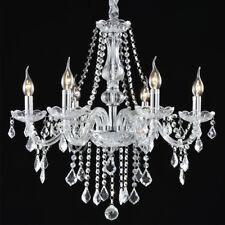Crystal Candle Chandelier Lighting 6 Lights Pendant Ceiling Fixture Lamp 22