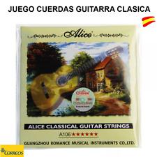 JUEGO DE CUERDAS ALICE A106  SET 6 CUERDAS METALICA-NYLON PARA GUITARRA CLASICA
