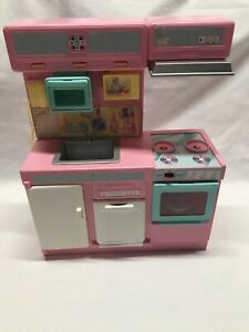 Vintage 1991 Meritus Barbie Pink Kitchen With Lights And Sounds Works