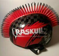 Raskullz Children's Bike Helmet Red/Black Mohawk Small