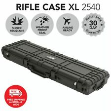 "Rifle Hard Gun Case 53"" Travel Protective Safe Airline Approved Waterproof Black"