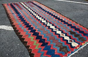 4.04' x 8.04' Kilim Rug Caucasian OLD FAST Shipment With UPS 11773-20003