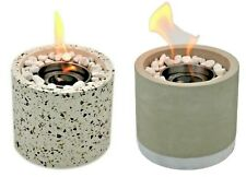 Bio Ethanol Fireplace Tabletop Marble Burner Fire Pit Bowl Pot Round Sparky