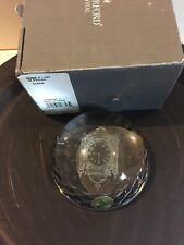 Waterford Marshall Fields Clock Paperweight Dome Retired New Chicago Landmark