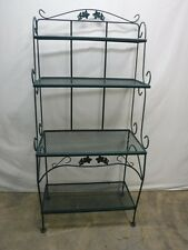 Green Wrought Iron Bakers Rack Lot 78