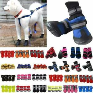 Pet Dog Winter Warm Rain Boots Feet Paw Protective Anti-Slip Socks Shoes Outdoor