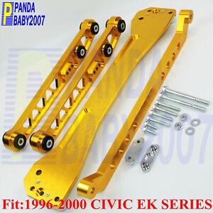 FOR 96-00 HONDA CIVIC EK SERIES DX ASR CONTROL ARM SUBFRAME BRACE TIE BAR KIT GD