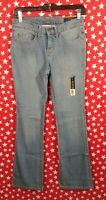 Faded Glory Bootcut Denim Antique Blue Jeans Women Size 4P Stretch NEW NWT