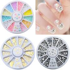 Crystal Bowknot Rhinestone Nail Art Accessories 3D DIY Jewelry Makeup Wheel Tool
