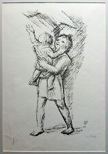 Ferruccio Ferrazzi - Lithographie original du '75, numéroté et signé