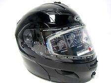 Gmax Helmet GM54 Modular Snow Black Medium 72-6200M New